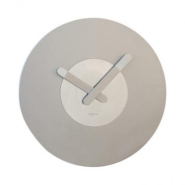 Zegar ścienny 39,5 cm Nextime In Touch srebrny