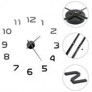 Zegar ścienny 3D, nowoczesny design, 100 cm, XXL, czarny