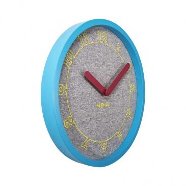 Zegar ścienny 40 cm Nextime Calmer szary