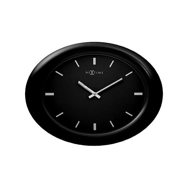 Zegar ścienny 40 cm NEXTIME Oval black 2730zw