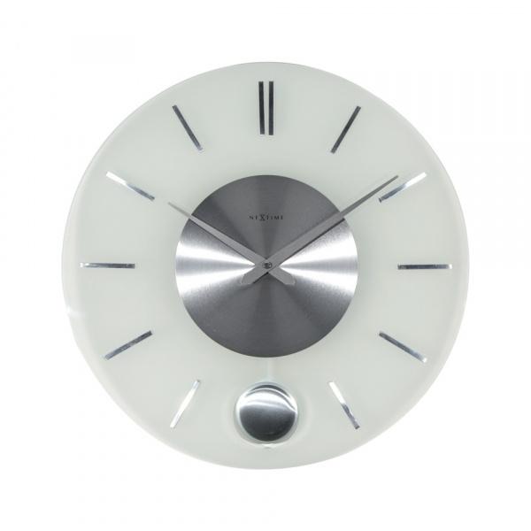Zegar ścienny 40 cm NeXtime Stripe Pendulum 3145