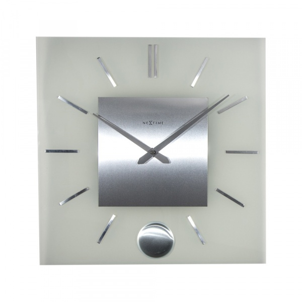 Zegar ścienny 40 cm NeXtime Stripe Pendulum Square 3146