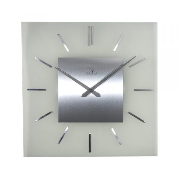Zegar ścienny 40 cm NeXtime Stripe Square Radio Controlled 3148