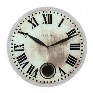 Zegar ścienny 43 cm Nextime Romana biały