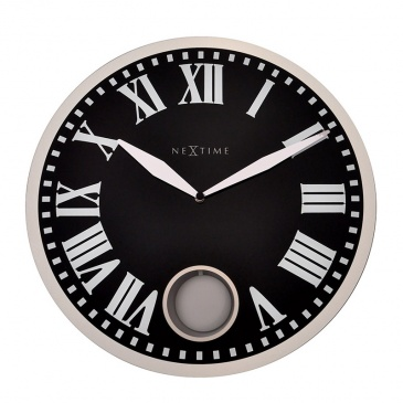 Zegar ścienny 43 cm Nextime Romana czarny