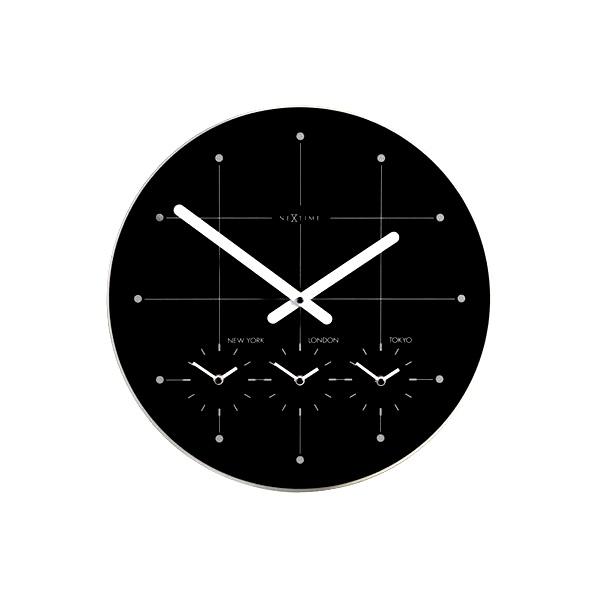 Zegar ścienny 43cm Nextime Big City czarny 214zw