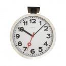 Zegar ścienny 44,5x38 cm Nextime Station Double biały