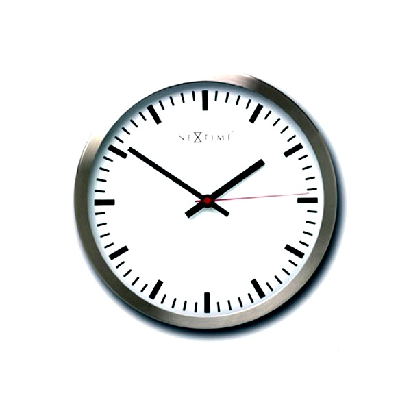 Zegar ścienny 45 cm Nextime Stripe 2524