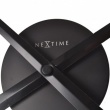 Zegar ścienny 48 cm Nextime Mini Hands czarny 3074ZW