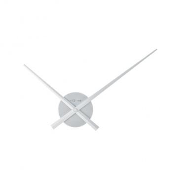Zegar ścienny 48 cm Nextime Mini Hands srebrny