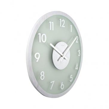 Zegar ścienny 50 cm Nextime Bella Frosted Wood biały