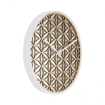 Zegar ścienny 50 cm Nextime Bella Mirror biały