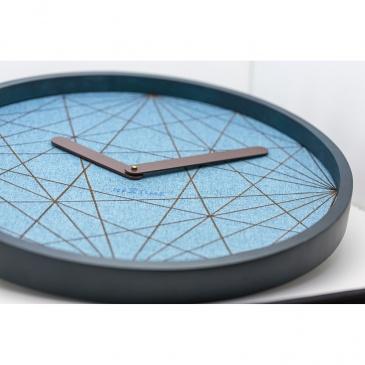 Zegar ścienny 50 cm Nextime Calmest turkusowy