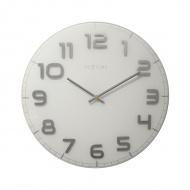 Zegar ścienny 50 cm Nextime Classy biały