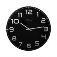 Zegar ścienny 50 cm Nextime Classy czarny