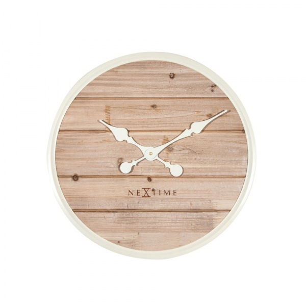 Zegar ścienny 50 cm NeXtime Plank biały 3134WI