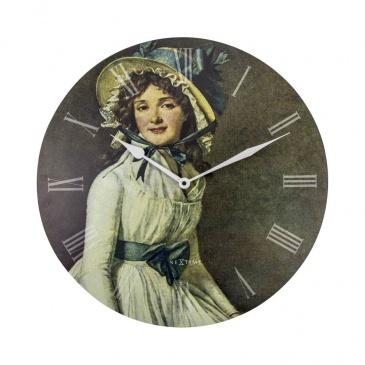 Zegar ścienny 50 cm Nextime Portrait of Mrs Serizy