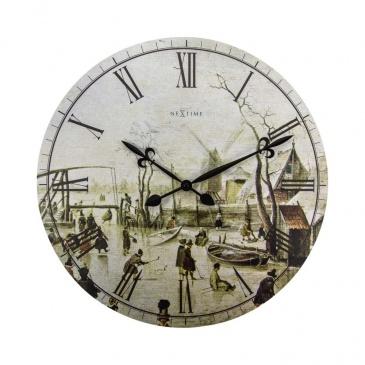 Zegar ścienny 50 cm Nextime Scene Of Ice Near Town