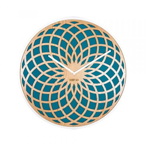 Zegar ścienny 50 cm NeXtime Sun Large turkusowy 3149TQ
