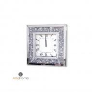 Zegar ścienny 50,5x50,5cm ArteHome Alviano srebrny