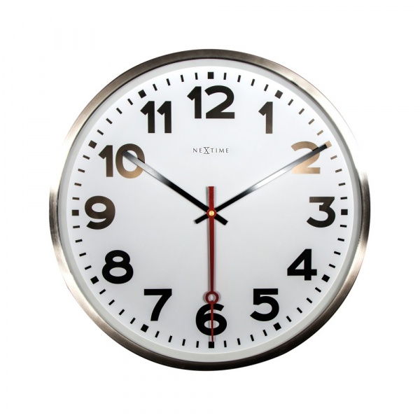 Zegar ścienny 55 cm NeXtime Super Station Number 3127AR