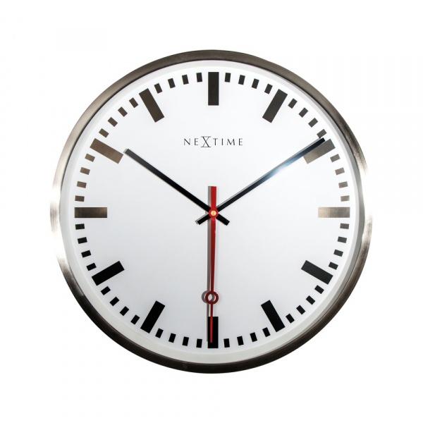 Zegar ścienny 55 cm NeXtime Super Station Number 3127ST