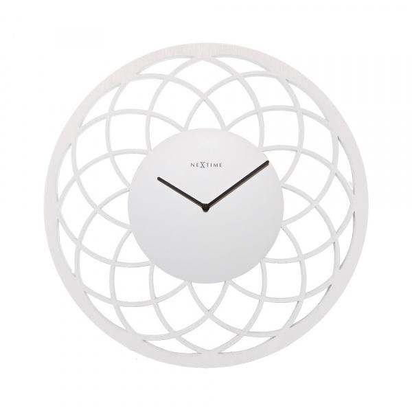 Zegar ścienny 60 cm NeXtime Dreamcatcher Big biały 3115WI