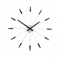 Zegar ścienny 60 cm Nextime Plug inn czarny