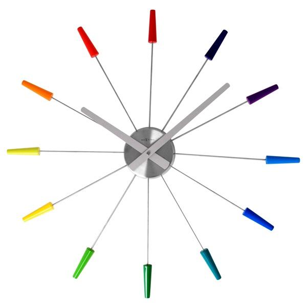 Zegar ścienny 60 cm NEXTIME Plug inn kolorowy 2610di