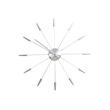 Zegar ścienny 60cm Nextime Plug inn srebrny