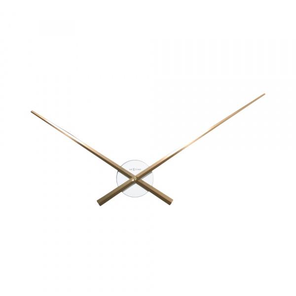 Zegar ścienny 70 cm Nextime Hands biało-miedziany 3118WC