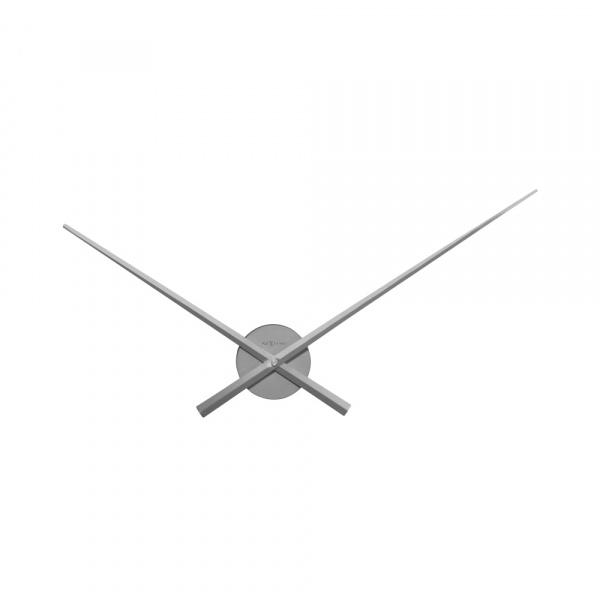 Zegar ścienny 70 cm Nextime Hands srebrny 3118ZI