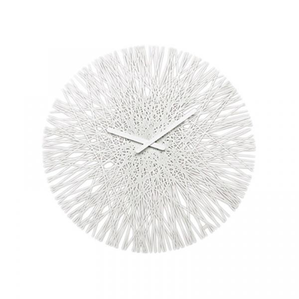 Zegar ścienny biały Koziol Silk KZ-2328525