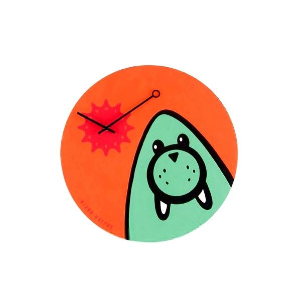 Zegar ścienny dla dzieci Nextime Wizky Walrus Orange 2819or