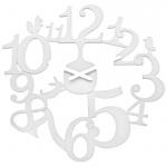 Zegar ścienny Koziol Pi:p biały