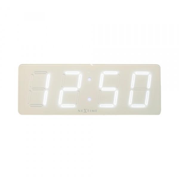 Zegar ścienny led NeXtime Big D biały 3059WI
