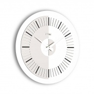 Zegar ścienny Meridium Incantesimo Design biało-szary