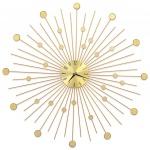 Zegar ścienny, metal, 70 cm, złoty