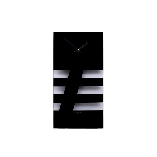 Zegar ścienny NEXTIME Bold Stripes czarny 2855ZW