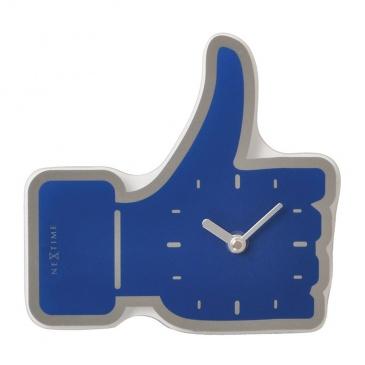 Zegar ścienny Nextime Mini Thumbs Up niebieski