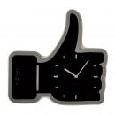 Zegar ścienny Nextime Thumbs Up czarny