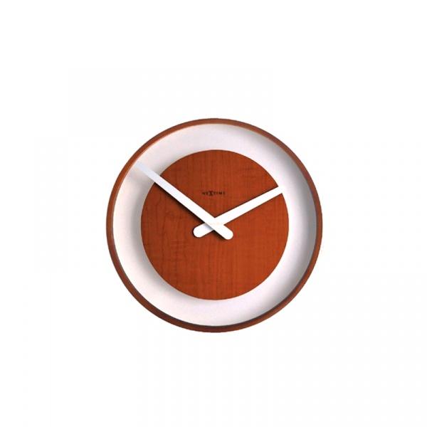 Zegar ścienny Nextime Wood Loop 3046BR