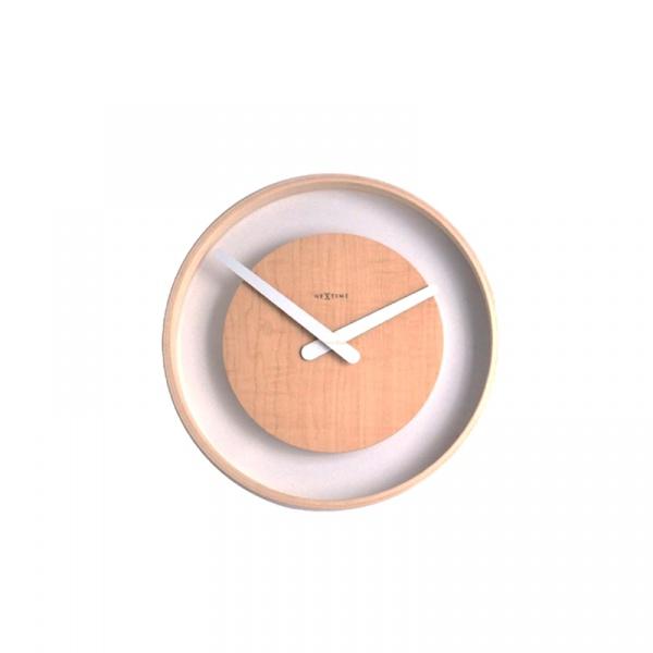Zegar ścienny Nextime Wood Loop 3046