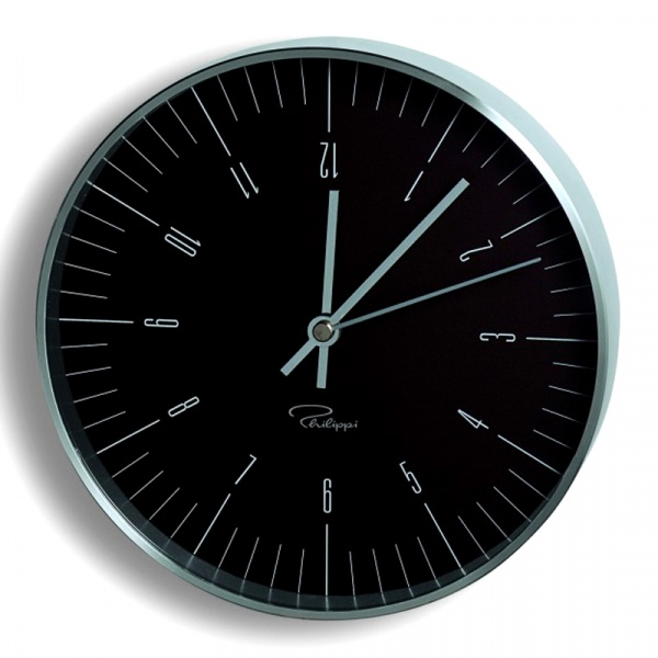 Zegar ścienny Philippi Tempus W2 czarny P183008