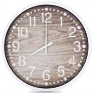 Zegar ścienny stylizowany na drewniany, 30,5 cm