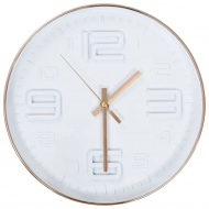 Zegar ścienny w kolorze miedzi, 30 cm