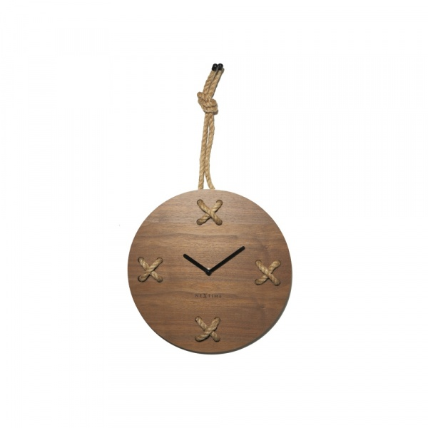 Zegar ścieny 33 cm NeXtime Stich brązowy 3111BR