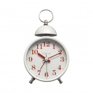 Zegar stojący 16x9,2 cm Nextime Single Bell biały