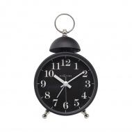 Zegar stojący 16x9,2 cm Nextime Single Bell czarny