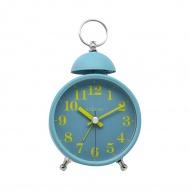 Zegar stojący 16x9,2 cm Nextime Single Bell turkusowy